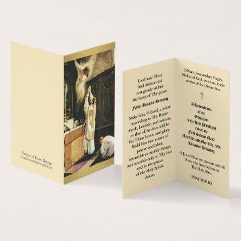 catholic priest ordination anniversary holy cards