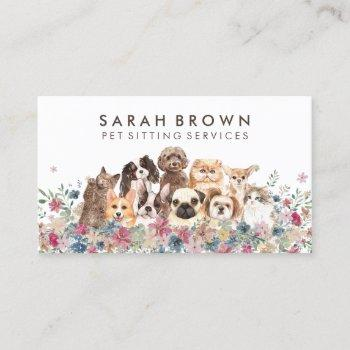 cats and dogs business card