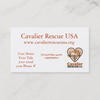 cavalier rescue dogs outside business card