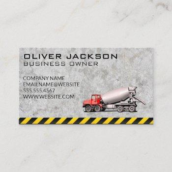 cement mixer vehicle business card
