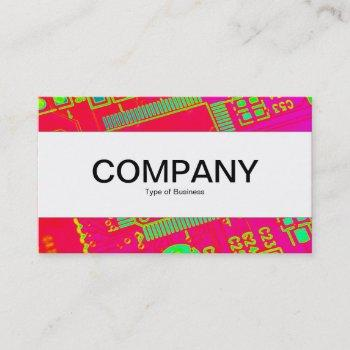 center band (edged) - colourful abstract circuitry business card