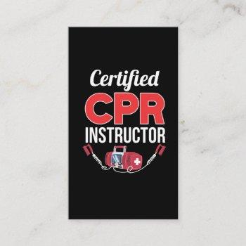 certified cpr instructor funny medical worker business card