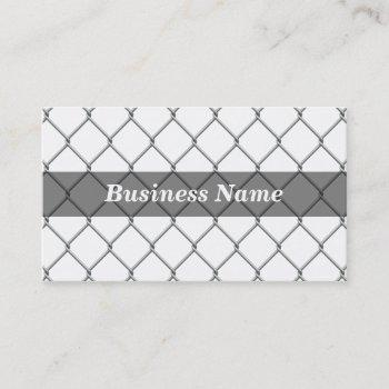 chain link fence against white bg business card
