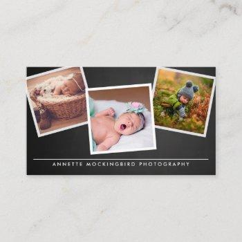 chalkboard three framed photo | photography business card