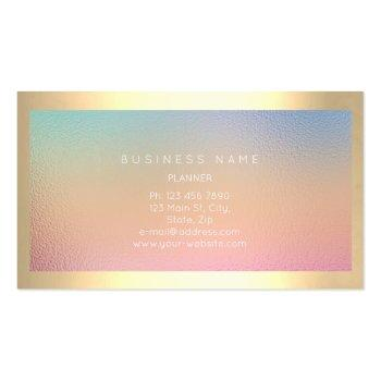 Small Champaign Gold Frame Metallic Ombre Luxury Vip Business Card Back View