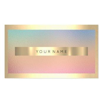 Small Champaign Gold Frame Metallic Ombre Luxury Vip Business Card Front View