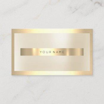 champaign gold glass frame metallic minimal ivory business card