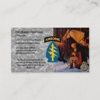 chaplain business card (george washington praying)