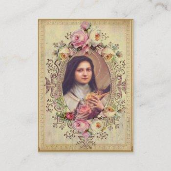 chaplet of st. therese holy card prayer