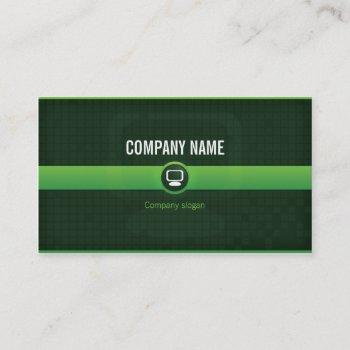 chart visits - professional agricultural data business card