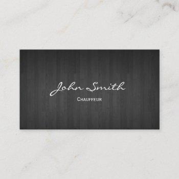 chauffeur driver elegant dark wood business card