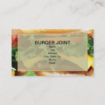 cheeseburger business cards