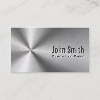 chef cool stainless steel metal business card