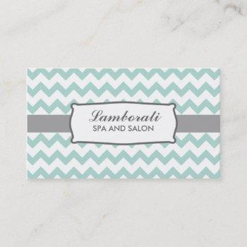 chevron zig zag pattern elegant green groupon business card