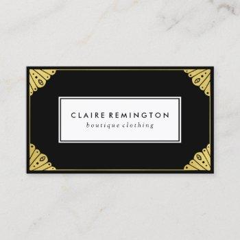 chic art deco | faux gold foil business card
