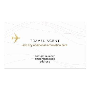 Small Chic Business Card For A Travel Agent Back View