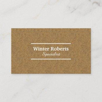 chic cork wood business card