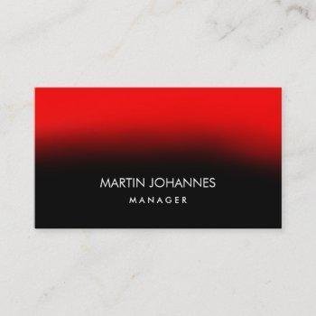 chic elegant plain stylish red black business card