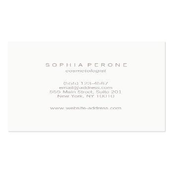 Small Chic Modern Minimalist Luminous Silver Square Square Business Card Back View
