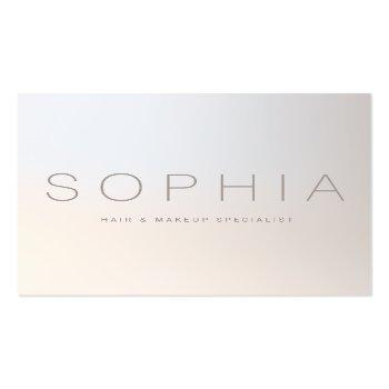 Small Chic Modern Minimalist Luminous Silver Square Square Business Card Front View