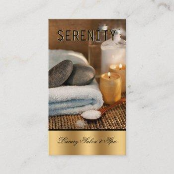 chic simple and clean spa card