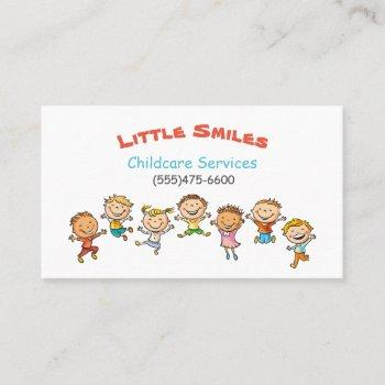 child daycare services business card