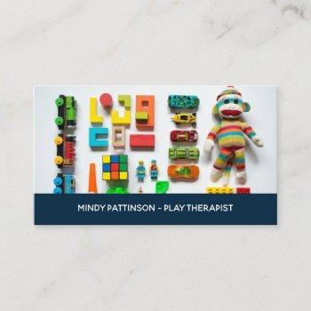 child play therapist kids toys business card
