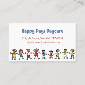 childcare daycare babysitter business card