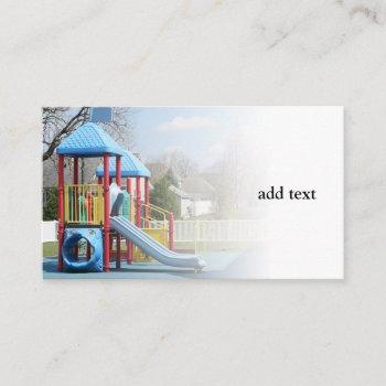 children's playground equipment business card