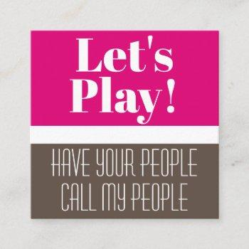 child's playdate card modern & pink