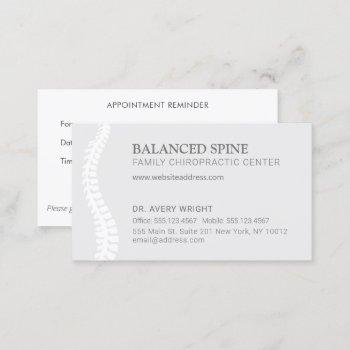 chiropractic chiropractor appointment reminder bus business card