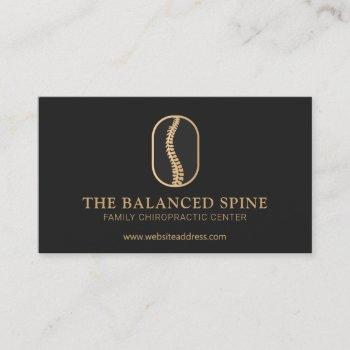 chiropractic chiropractor logo black business card