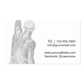 Small Chiropractic Chiropractor Massage Spa Therapist Business Card Back View