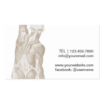 Small Chiropractic Chiropractor Massage Therapy Business Card Back View