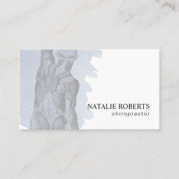 chiropractic massage therapy watercolor business card