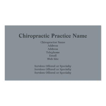 Small Chiropractor Business Card4 Business Card Back View
