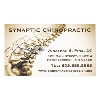 Small Chiropractor Business Cards Front View