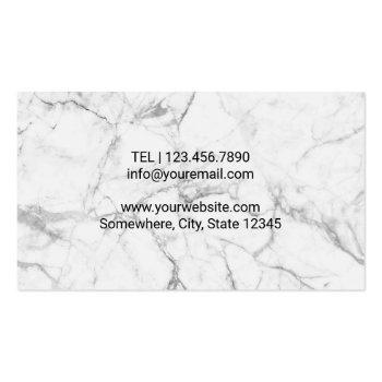 Small Chiropractor Chiropractic Hands & Spine Marble Business Card Back View