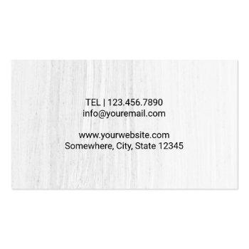 Small Chiropractor Chiropractic Healthy Spine Therapist Business Card Back View