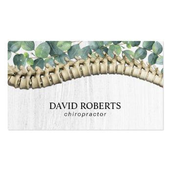 Small Chiropractor Chiropractic Healthy Spine Therapist Business Card Front View