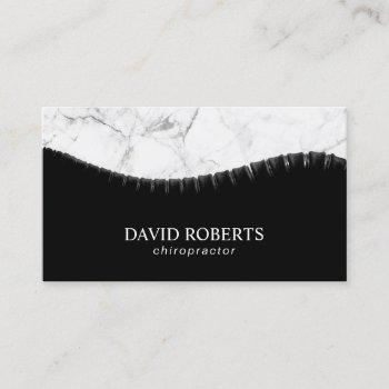 chiropractor chiropractic spine & marble chiro business card