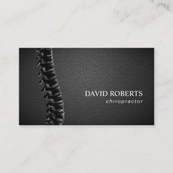 chiropractor chiropractic spine therapist leather business card