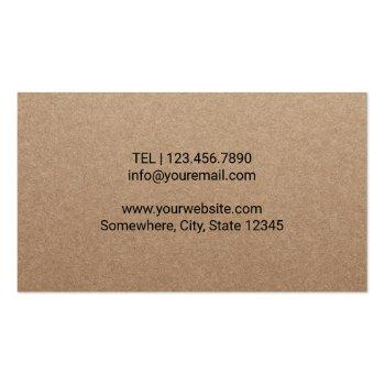 Small Chiropractor Chiropractic Spine Therapist Rustic Business Card Back View