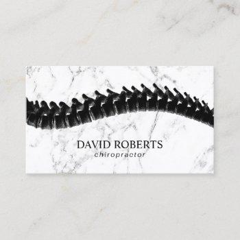 chiropractor chiropractic spine therapy marble business card