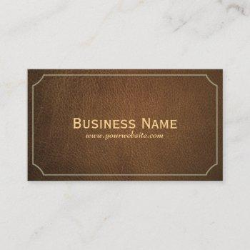 chiropractor vintage leather business card