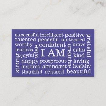 choose color daily positive affirmations i am business card