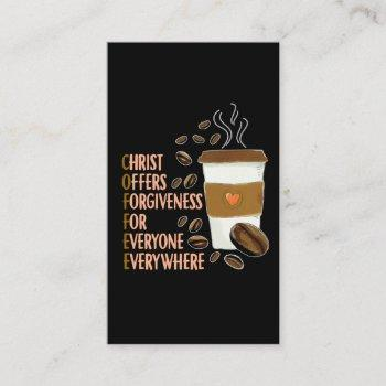 christ coffee christian church caffeine pastor business card