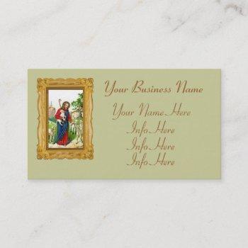 christ the shepherd business card
