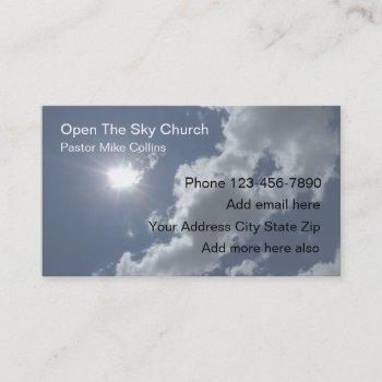 christian church pastor sky sun business card