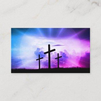 christian inspirational bible religious cross business card